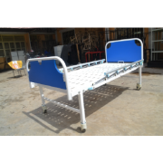 Hospital Bed with backrest / collapsible side railings with castor wheels,head and leg boards MF-01HD