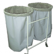 Solid Linen Trolley Double Bag MF-22HB