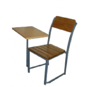 Writing Chair Wooden Seat And Back With M/Frame MF-44B