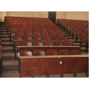 Lecture Theater Chair Plywood Laminated (Wood Veneer) Seat Step And Back With High Pressure Laminated MDF Writing Top MF-45D