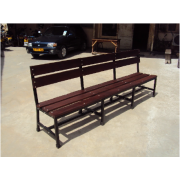 Hard Wood  / Metal Frame Visitor Bench MF-63B