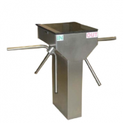 Turnstar Trident Waist Height Single Turnstile Polished grade304 stainkess steel