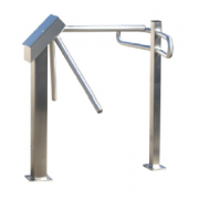 Turnstar Trident Waist Height Single Turnstile With Screen Polished grade304 stainkess steel