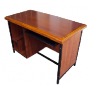 Computer Table For Office Use 1 Person Hardwood Top / Metal Fram Of Square Pipes