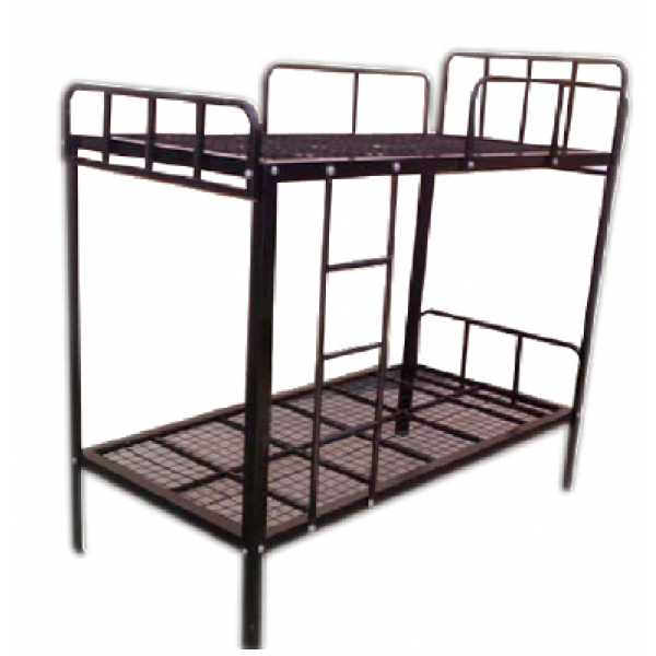 Steel Double Decker Beds : Double Decker Bed - Metal- Black MF-26B