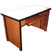 Office Table With Single Pedestal And Keyboard Tray MF-30E