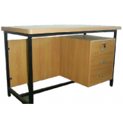Office Table M/ Frame With Side Pedestal MDF- Top MF-65A