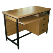 Office Table With S/ Pedestal And KeyboardTray Metal Frame MDF- Top MF-65B