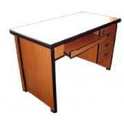 Office Table MDF - S/ Pedestal With Keyboard Tray MF-72C