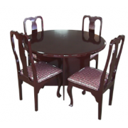 Dinning Table Round 4 Seater With Chair Hard Wood MF-82A