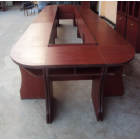 Conference Table For Two People With Front Table For Three People Made Of Well Kin Dry Hard Wood