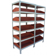 Library Book Shelf Metal Frame MDF - Local Product (6 shelves - 5 compartments) 66A