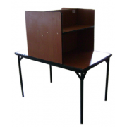 Library Reading Table Partitioned For 2 seater MF-100C