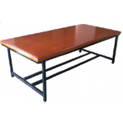 School Reading / Library Table 8 Students M/ Frame Hardwood MF-104