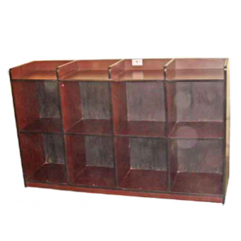 Book Shelf With in and out Tray at top 4 compartments