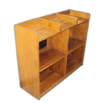 Book Shelf With in and out Tray at top 3 compartments MF-113A-2