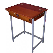 School Desk Lockable Hard Wood Top MF-37A