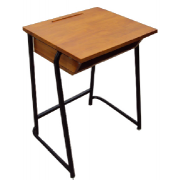 School Desk with hard wood shelf  - top /metal frame MF-37C-2
